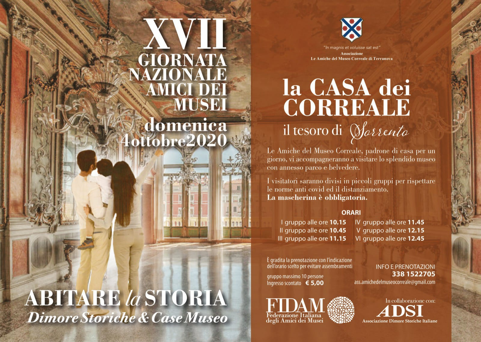 """Sorrento, domenica di cultura con l'evento """"Abitare la Storia: la Casa dei Correale"""""""