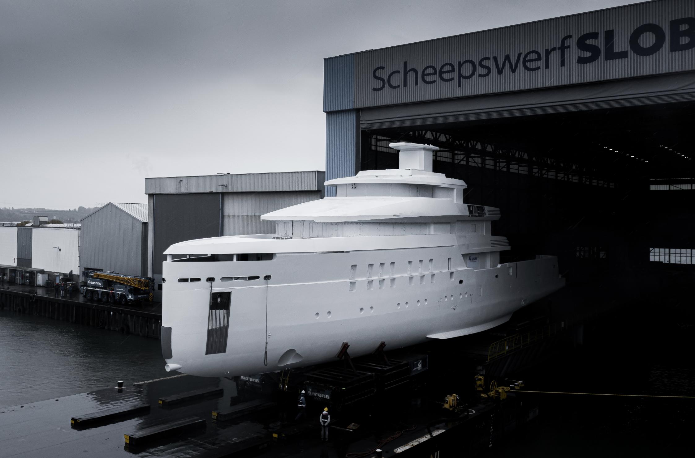 Vitruvius Yachts, ecco la fase dei lavori del nuovo 56mt nel cantiere di Feadship