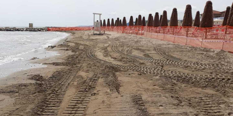 Al via i lavori per ripascimento nella spiaggia del lungomare sud a Pescara