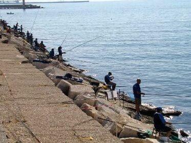 pesca da scogliera in inverno