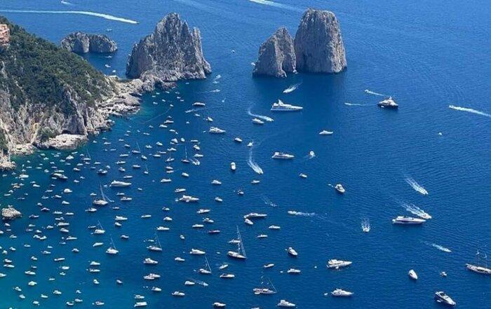 sovraffollamento barche Capri