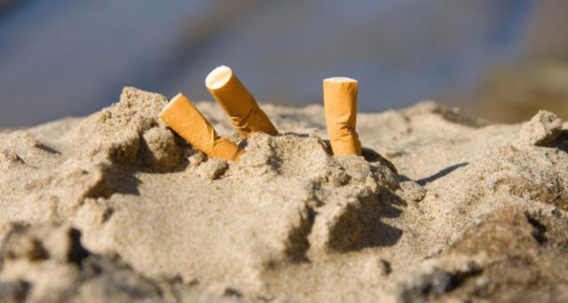 spiagge mozziconi sigarette